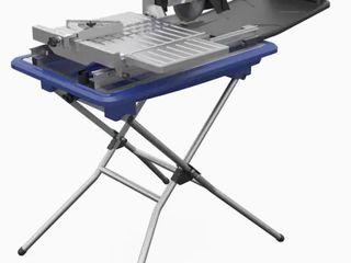 Kobalt 7 in 1 6 Wet Tabletop Sliding Table Tile Saw  Missing legs Powers On