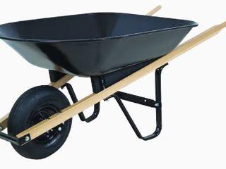 Blue Hawk 4 cu ft Steel Wheelbarrow  Slightly Bent with Scratches