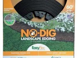 Dimex Easyflex No Dig landscape Edging Kit Black  60  length  No Spikes