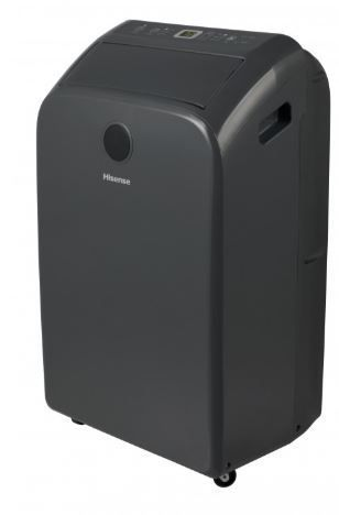 Hisense Compact Portable Air Conditioner  Tested and Runs  Missing Window Exhaust  Scratches on Top