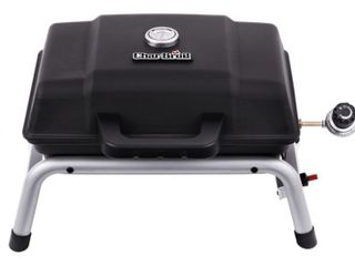 Char Broil Black Portable Gas Grill  Scuffs on lid