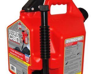 SureCan 2 2 Gallon Plastic Gas Can  Missing Cap