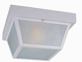 Portfolio 10 37 in W White Outdoor Flush Mount light