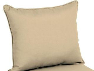 2 Welted Deep Seat Pillow Back  21 l x 25 W x 7 5 H  Tan