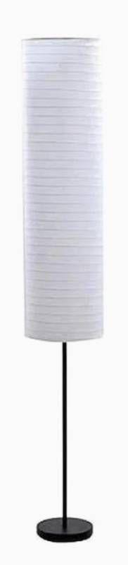 Portfolio Floor lamp Black Finish White Rice Paper Shade  12  x 12  x 69 75   Damaged Shade Ripped