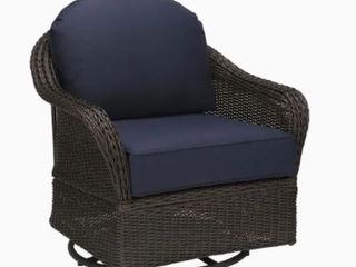 Incomplete Items  Allen   Roth Wicker Chairs  2 Chair Tops  1 Base  2 Swivel Components  Missing Cushions and Attachment for Swivels