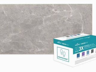 Rectified Porcelain Floor and Wall Tile  Mohawk ForeverStyle Gray Marble 6  x 12    2 Pack of 16 Tile Each