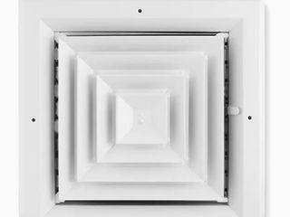 Accord Ventilation White Aluminum Ceiling Diffuser  Set of 2