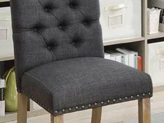 Furniture of America  Roseanne Rustic Tufted Side Chair