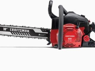 Craftsman S180 light Easy Start 2 Cycle low Vibration Gas Chainsaw with Case