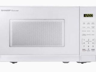 Sharp 0 7 cu ft 700 Watt Countertop Microwave  White