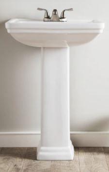 AquaSource 33 6 in H White Vitreous China Pedestal Sink  Damage to Pedestal