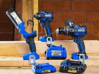 Kobalt XTR 24V 3 Tool Combo Kit  1 Drill Doesn t Work Appears Used