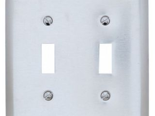 Pass  amp  Seymour Wall Plate  Stainless Steel  Silver Gray  5 Total