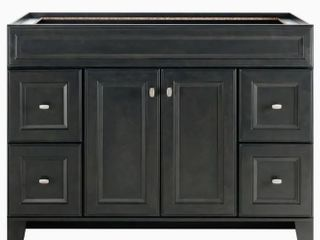 Diamond Goslin Storm Transitional 48 in Room Vanity   Missing Hardware  Damaged See Pictures
