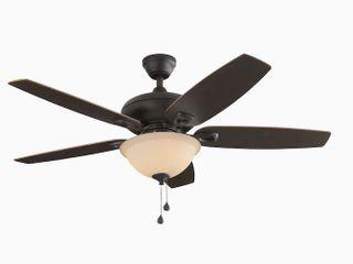 Harbor Breeze Coastal Creek 52 in Bronze lED Indoor Ceiling Fan  Missing Glass Globe