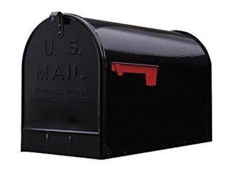 Gibraltar Extra large Steel PostMount Mailbox  Black  Slight Dent on Back Corner