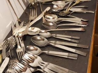 large lot of Flatware