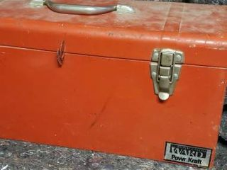 Montgomery Ward Tool Box with Contents