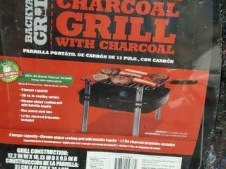 Backyard Grill 13 Inch Portable Charcoal Grill