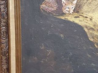 Amateur Painting of a Fox in Den
