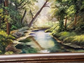 Creek in Timber Oil on Canvas