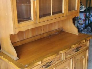 2 piece Solid Wood Buffet and Hutch