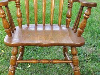 Wide Seat Solid Wood Chair