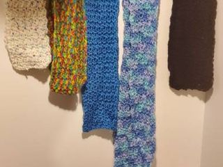 lot of Hand Knotted Scarves  neck Warmer and Trio of Socks