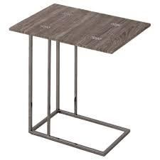 Weathered Grey Finish Expandable side End Table  Retail 79 98