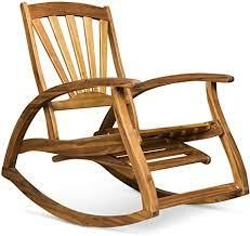 Sunview Outdoor Rustic Acacia Wood Recliner Rocking Chair