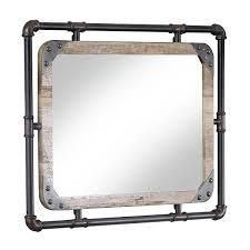 Furniture of America Revo Industrial 31 inch Metal Wall Mirror  Retail 163 49