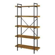 68  Urban Pipe Bookcase with 5 Shelves in Barnwood