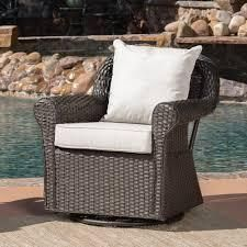 Amaya Outdoor Wicker Swivel Cushioned Rocking Chair by Christopher Knight Home  Retail 815 49