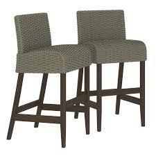 Novestra Outdoor Furniture SmartDry Patio Bar Stools  Set of 2  by Havenside Home  Retail 197 49