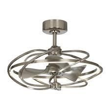 Satin Nickel 27 inch Reversible lED Ceiling Fandelier with Remote  Retail 579 98