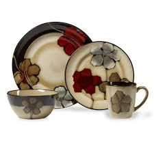 Pfaltzgraff Everyday Painted Poppies Dinnerware Set  Service for 4
