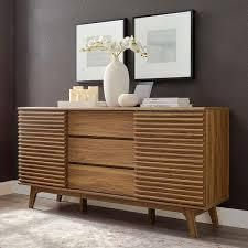 Carson Carrington lagered 63 inch Sideboard Buffet Table or TV Stand  Retail 339 99 walnut