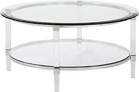 Furniture R Round Glass Coffee Table  Retail 125 99 clear