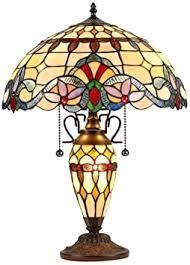 Tiffany Style Victorian Design 2 and 1 light Table lamp  Retail 181 99