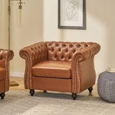 Silverdale traditional chesterfield club chair cognac