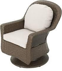 liam Outdoor Wicker Swivel Club Chair with Cushion set of 2 only