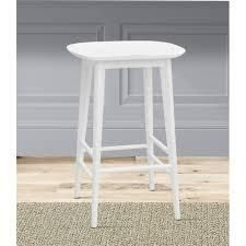Hendry Backless Solid Acacia Counter Stool by Greyson living  Retail 85 73 white
