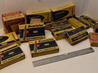 Vintage Cardboard Ammunition Boxes (some have