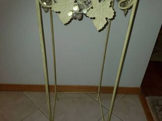 Wrought Iron Vine Decor Plant Stand