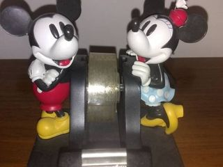 Mickey And Minnie Mouse Weighted Scotch Tape Dispenser
