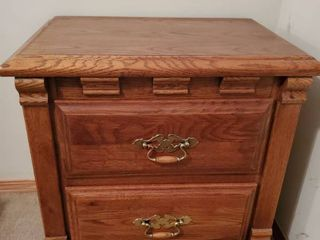 Webb 2 Drawer Nightstand with Brass Handles