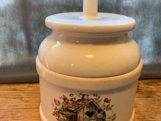 Home Tweet Home Painted Ceramic Canister location Kitchen