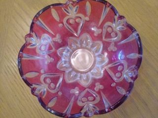Ruby Red Flash Dish