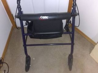 Carex Four Wheel Walker With Breaks And Seat